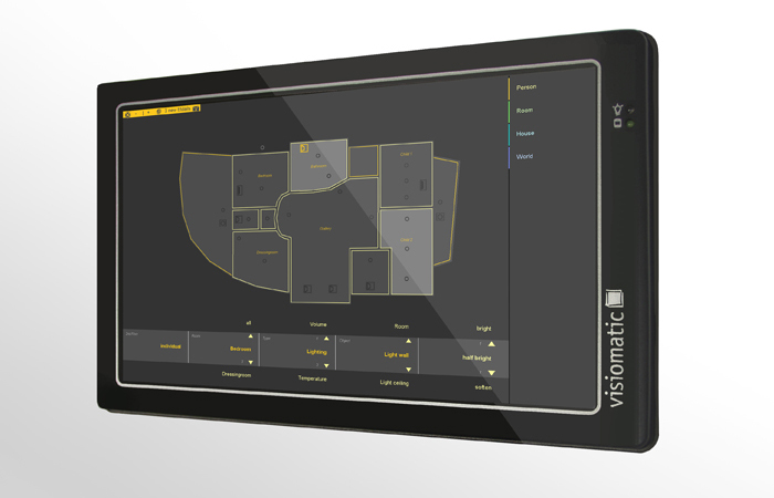 touchscreens exklusives design zur steuerung ihres smart homes. Black Bedroom Furniture Sets. Home Design Ideas