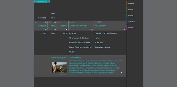 Kinoprogramm   Infotainment   Home System by visiomatic International
