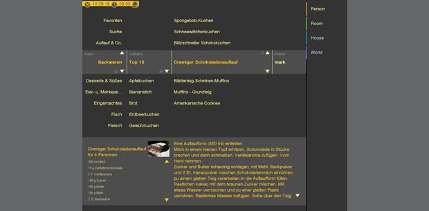 Kochrezepte   Infotainment   Home System by visiomatic International